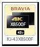 bravia,ブラビア,2018,sony,ソニーストア,X8500Fシリーズ,KJ-43X8500F
