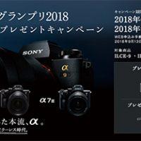 α9,カメラグランプリ2018,大賞受賞記念,プレゼントキャンペーン,sony,ソニーストア