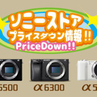 sony,pricedown,ilce-6500,ilce-6400,ilce-5100,a6300,a6500,a5100,プライスダウン,値下げ