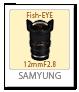 SAMYUNG,12mmF2.8,Fish-EYE,レンズ,Eマウント,フルサイズ