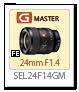 SEL24F14GM,単焦点レンズ,Gマスター,sony,24mmf14