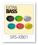 srs-xb01,ワイヤレスポータブルスピーカー,EXRTABASS