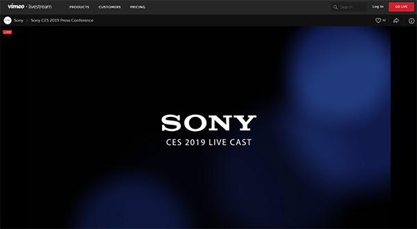Sony CES 2019 プレスカンファレンス