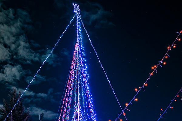 小野市,クリスマスイルミネーション,吉田卓也,フォトコン,月とイルミネーションとオリオン座