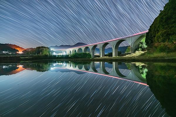天の川,虎臥城大橋,α7RII,ilce-7rm2,sel1635gm,16mmf2.8,ぐるぐる