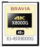 4K BRAVIA,X8000G,KJ-49X8000G
