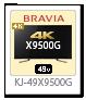 4K BRAVIA,4Kチューナー内蔵,X9500G,KJ-49X9500G