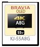 4K BRAVIA,KJ-55A8G、有機ELテレビ