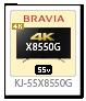 4K BRAVIA,4Kチューナー内蔵,X8550G,KJ-55X8550G