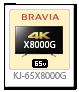 4K BRAVIA,X8000G,KJ-65X8000G