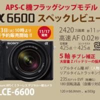 α6600,ILCE-6600,スペックレビュー,APS-C機,フラッグシップモデル