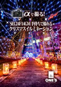 α<アルファ>で撮る!,SEL24F14GM,クリスマスイルミネーション