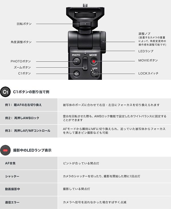 GP-VPT2BT,ワイヤレスリモコン,Bluetooth,シューティンググリップ