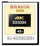 X8500Hシリーズ,4Kテレビ,BRAVIA,KJ-43X8500H