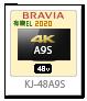 BRAVIA,A9Sシリーズ,4Kテレビ,KJ-48A9S