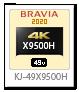 X9500Hシリーズ,4Kテレビ,BRAVIA,KJ-49X9500H