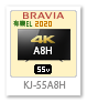 BRAVIA,A8Hシリーズ,4Kテレビ,KJ-55A8H