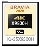 X9500Hシリーズ,4Kテレビ,BRAVIA,KJ-55X9500H
