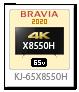X8550Hシリーズ,4Kテレビ,BRAVIA,KJ-65X8550H