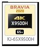 X9500Hシリーズ,4Kテレビ,BRAVIA,KJ-65X9500H