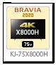 X8000Hシリーズ,4Kテレビ,BRAVIA,KJ-75X8500H