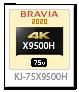 X9500Hシリーズ,4Kテレビ,BRAVIA,KJ-75X9500H