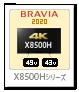 X8500Hシリーズ,4Kテレビ,BRAVIA