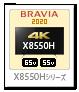 X8550Hシリーズ,4Kテレビ,BRAVIA