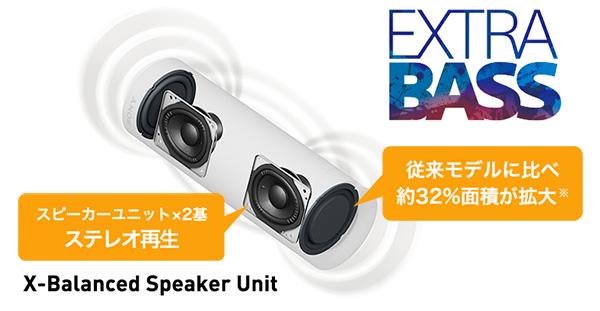 SRS-XB23,ワイヤレスポータブルスピーカー