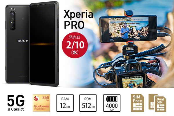 Xperia PRO,5G,ミリ波