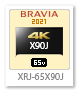 XRJ-65X90J,4Kテレビ,BRAVIA,液晶テレビ