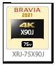 XRJ-75X90J,4Kテレビ,BRAVIA,液晶テレビ