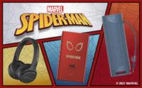 marvel,spyderman,スパイダーマン,sony,walkman,ヘッドホン,スピーカー